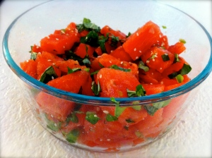 Watermelon Salad with Jalapeno and Lime
