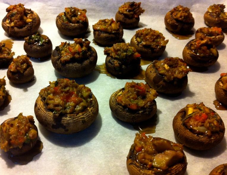 olive stuffed mushrooms becauseitsgoodforyou