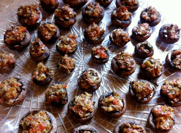 olive tapenade stuffed mushrooms becauseitsgoodforyou