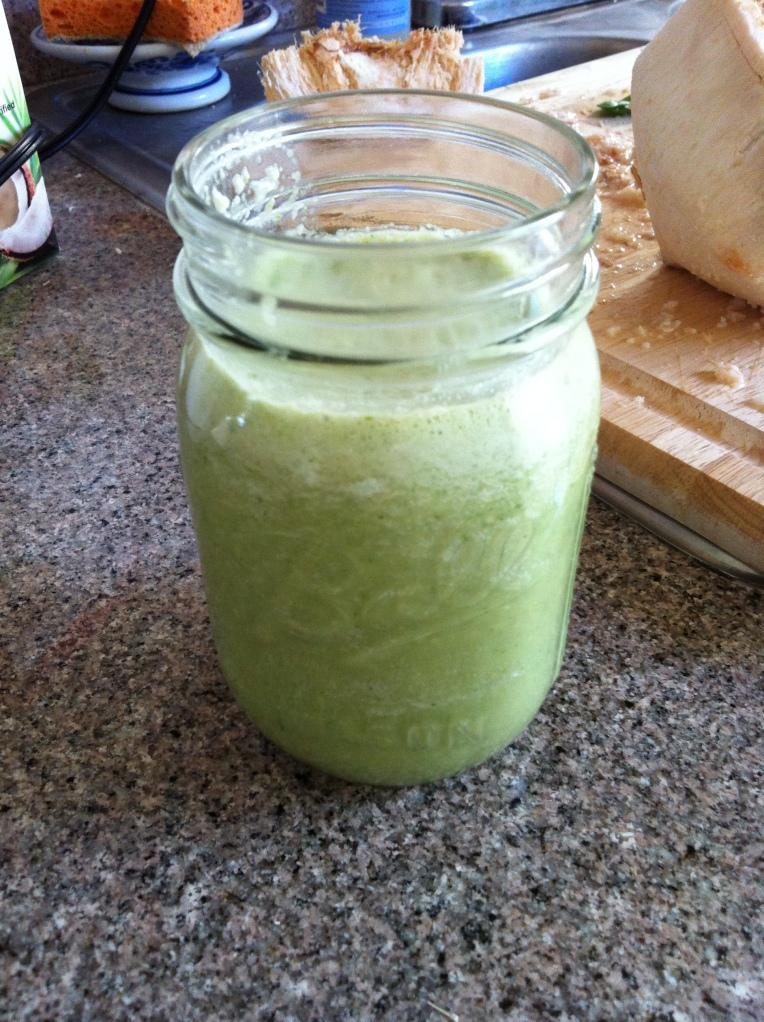 Green Coconut Smoothie Becauseitsgoodforyou.com
