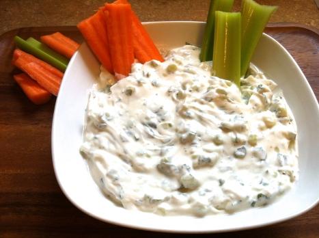 Minty Cucumber Veggie dip Becauseitsgoodforyou.com