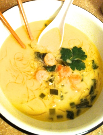 Kelp Noodle and Coconut Soup Becauseitsgoodforyou.com